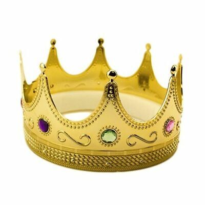 Royalty Gold Plastic King Queen Crown With Jewels 3 Wise Men Costume Accessory ](Queen Crown Costume)