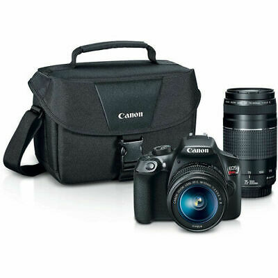 Canon EOS Rebel T6 DSLR Camera with 18-55mm and 75-300mm Len