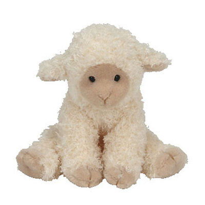 TY Basket Beanie Baby - MEEKINS the Lamb (3.5 inch) - MWMTs Easter Stuffed Toy