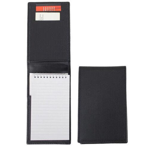 Deluxe Plain Leather Notebook Holder (Black)