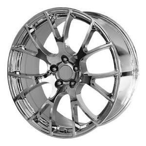 20 Wheel Set Replica SRT Hellcat Chrome Dodge Challenger Magnum Charger Chrysler 300 Mag Roue Wheels Rim 20x9 5x115