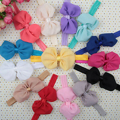10Pcs Cute Kids Girl Baby Toddler Flower Bow Headband Hair Band Headwear Showy