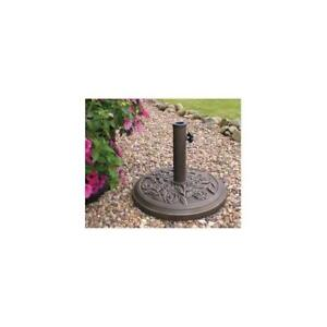 PBASE Kingfisher Parasol Base , Cast Iron Effect , 9Kg