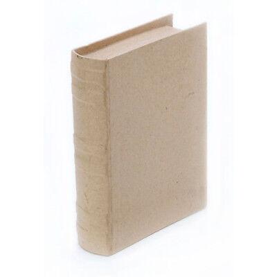 Paper Mache Book Box- LARGE SIZE - 3D Unfinished Craft Letter Shape - Home - Paper Mache Book Box