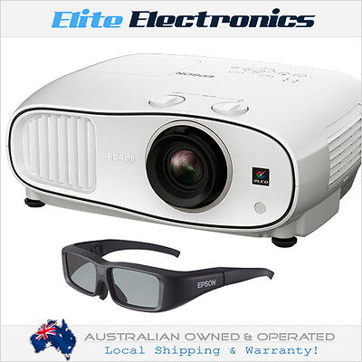 EPSON EH-TW6700 3LCD FULL HD 1080P 3D HOME CINEMA PROJECTOR + 1x 3D GLASSES