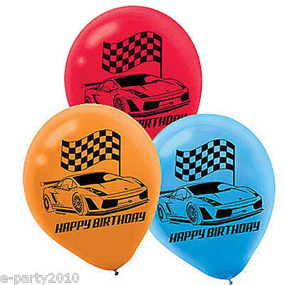 HOT WHEELS Wild Racer LATEX BALLOONS (6) ~ Birthday Party Supplies - Hot Wheels Birthday Decorations