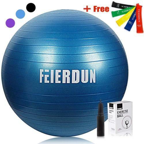 FEIERDUN Stability Exercise Yoga Ball Anti-Burst/Heavy Duty