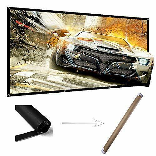 "120"" Projector Screen Wrinkle Free Indoor Outdoor Portable 4K Projection Screen"