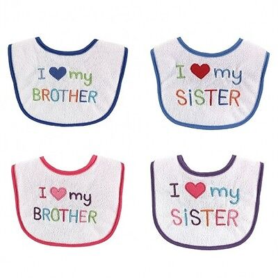 Baby I love My Brother And Sister Applique Bib - Luvable Friends