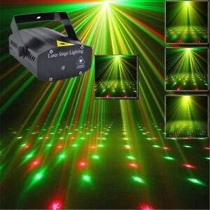 Laser Projector LED Stage Lighting R&G Disco DJ Party Club Light Strobe Xmas UK