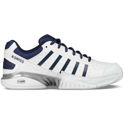 K Swiss Receiver IV Mens White Leather Tennis Shoes Trainers White Size 8-12