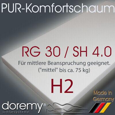 H2 / RG30/40 Schaumstoff Polster Zuschnitt Schaumstoffplatten Matratzen nach Maß