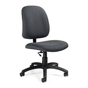 Global Goal 2239 6 Fabric Low Back Office Task Chair Armless