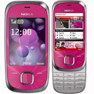 Brand New Nokia 7230 Hot Pink Slider 3G Unlocked Mobile Phone Complete Box