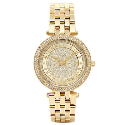 Michael Kors Women's MK3445 Mini Darci Gold Tone Crystal Pave Dial Watch
