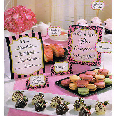 BRIDAL SHOWER A Day in Paris BUFFET DECORATING KIT (12) ~ Wedding Party Supplies