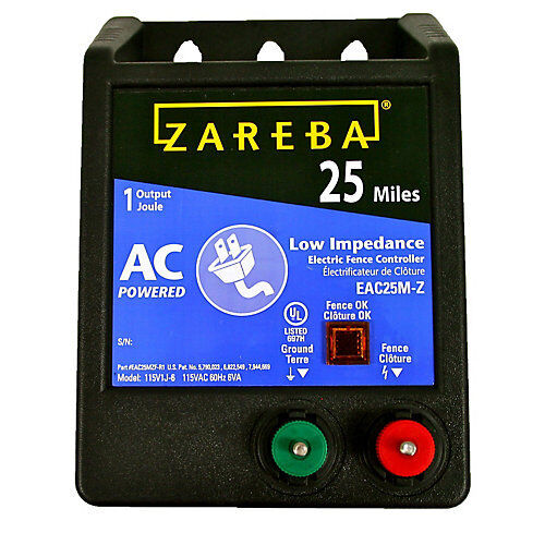 Zareba 25 Mile AC Low Impedance Fence Charger
