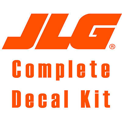Jlg 1930es Scissor Lift Decal Kit Safety Only No Cosmetics