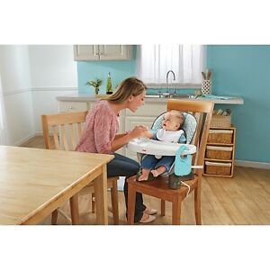 Fisher-Price SpaceSaver High Chair-Teal Tempo Cambridge Kitchener Area image 1