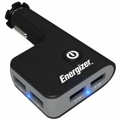 Energizer 12v In Car Quad 4 USB Socket Adapter Fast