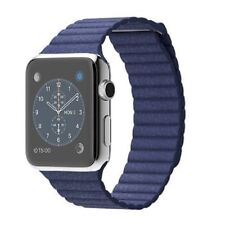 Apple Watch Stainless Steel 42mm Blue Leather Band+AppleCare