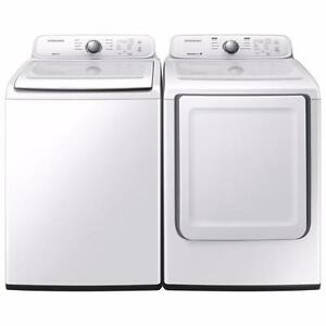 SAMSUNG Top Load Washer & Dryer Set  WA40J3000AW / DV40J3000EW - Brand New In Box!