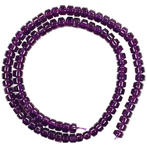 6x3MM-AMETHYST-HEISHI-GEMSTONE-BEADS-16-Round-Tube