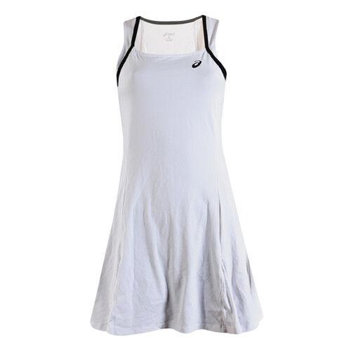Asics Womens Real White Black Tennis Dress 122773 0001 EE47