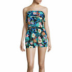 Polyester Strapless Jumpsuits & Rompers for Women