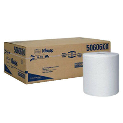 Kleenex White Hard Roll - Kleenex Hard Towel Roll White Recycled Fiber 600' L x 8