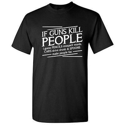 Guns Pencils Sarcastic Cool Gun Rude Graphic 2nd Amendment Humor Funny TShirt - Cool Pencils