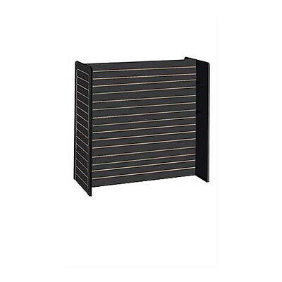 Slatwall Gondola Unit In Black Finish 24 X 48 X 48 Inches Without Casters