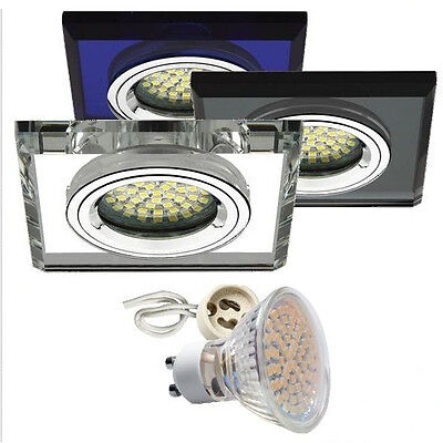 Einbau-Strahler Einbau-Spot Glas GU10 GU5,3 LED Einbau-Leuchte Morta-Cristal