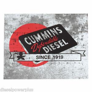 Vintage Replica Tin Metal Sign Dodge Cummins Dependable
