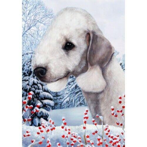 Winter Garden Flag - Bedlington Terrier 151321