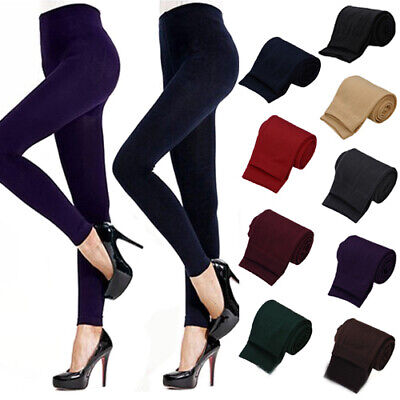 Lady Women Winter Warm Skinny Slim Leggings Stretch Pants Thick Footless Welcome Clothing, Shoes & Accessories