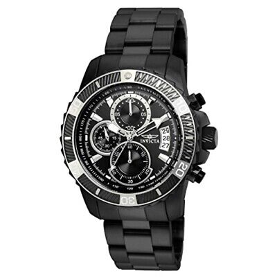 Invicta Men's Pro Diver Black Steel Bracelet & Case Quartz Analog Watch 22417