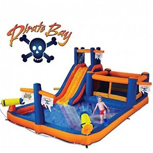 Pirates Bay Inflatable water Park for rent.