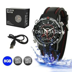 720*480 8GB HD Watch Camera Digital Video Recorder DVR Waterproof Spy Camcorder