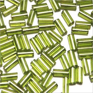 perline-rocaille-Tubi-in-vetro-Foro-argentato-4x2mm-Verde-chiaro-20g