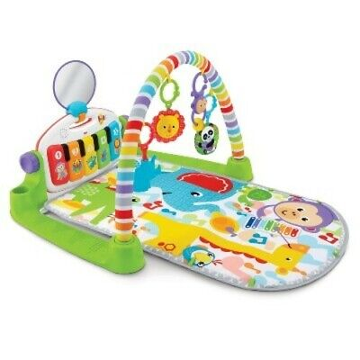 NEW Fisher-Price Deluxe Kick and Play Piano Gym - Green