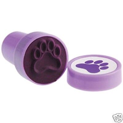 12 Purple Paw Print Stampers Stamp Party Goody Bag Filler Favor Kid Craft Supply