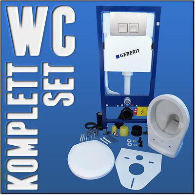 GEBERIT DUOFIX Vorwandelement Wand WC Set WC Sitz mit Softclose WC mit Lotus
