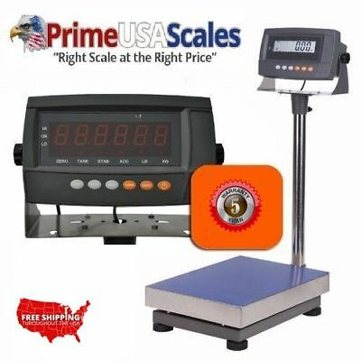 Industrial Portable Bench Scale 300 Lb X .02 Lb Plate Size 12x16 Rechargeable