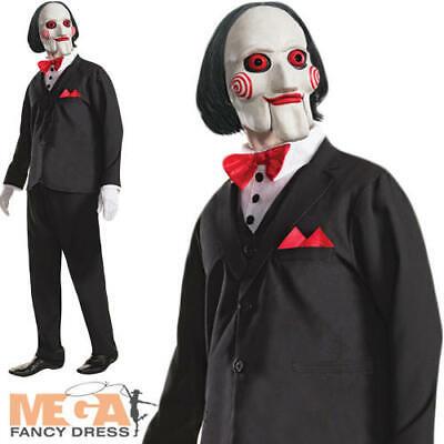 ncy Dress Saw Puppet Halloween Horror Movie Adults Costume   (Saw Puppet-halloween Kostüm)