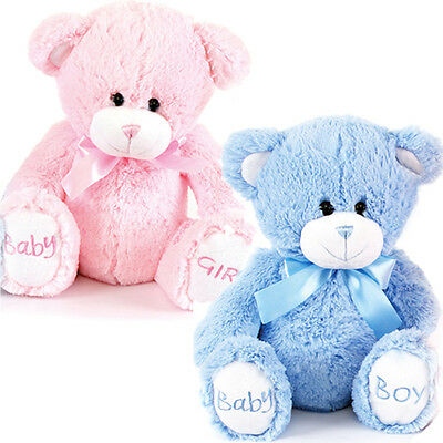 "8"" BABY BOY GIRL BIRTH NEW BORN COSY PLUSH TOY SOFT KIDS CUDDLY TEDDY BEAR GIFT"