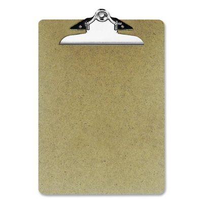 Oic Wood Clipboard - 1 Capacity - 9 X 12.50 - Clamp - Hardboard - Brown