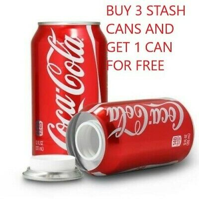 COCA COLA SODA STASH CAN SAFES BUY 3 GET 1 FREE MIX OR MATCH