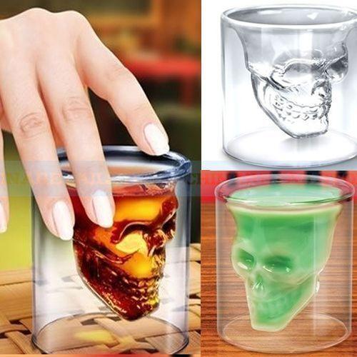 Crystal Skull Head Vodka Shot Whiskey Wine Beer Bar Glass Drinking Decanter Cup