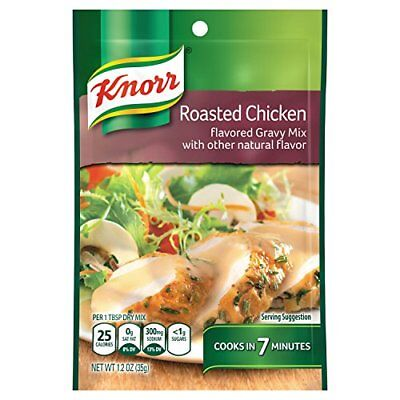 Knorr Roasted Chicken flavored gravy Mix, 1.2 oz (Pack of 3) ()